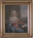 Szkoła Marcello Bacciarelli; Dama na tle okna; Polska, ok. 1800 r.; olej, płótno