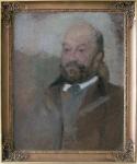Olga Boznańska; Portret Adama Nowiny-Boznańskiego; Paryż (?), ok. 1900 r.; olej, tektura