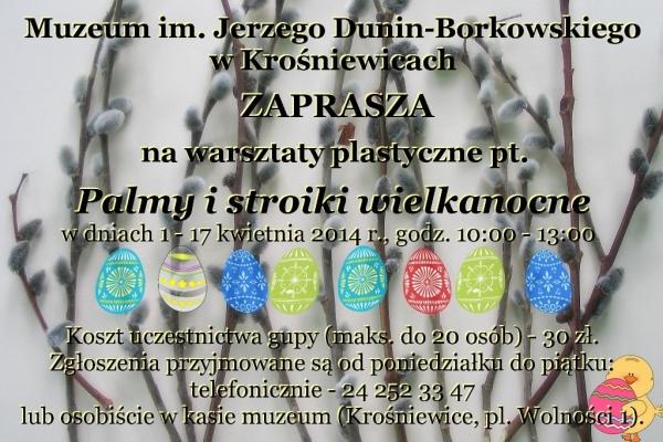 plakat warsztaty wielkanocne 2014